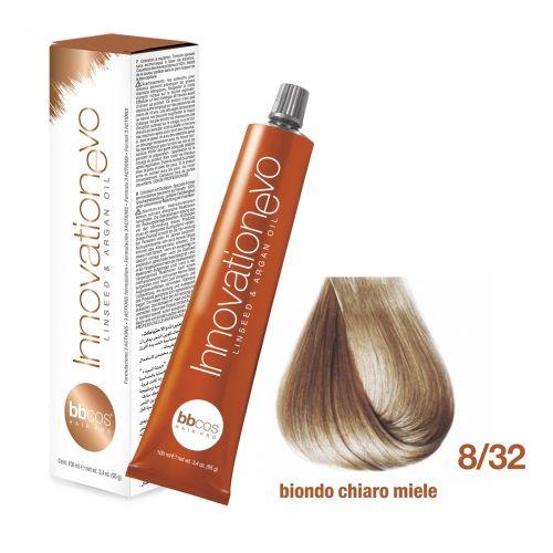 BBCOS- Vopsea de păr Innovation EVO (8/32- Biondo Chiaro Miele)