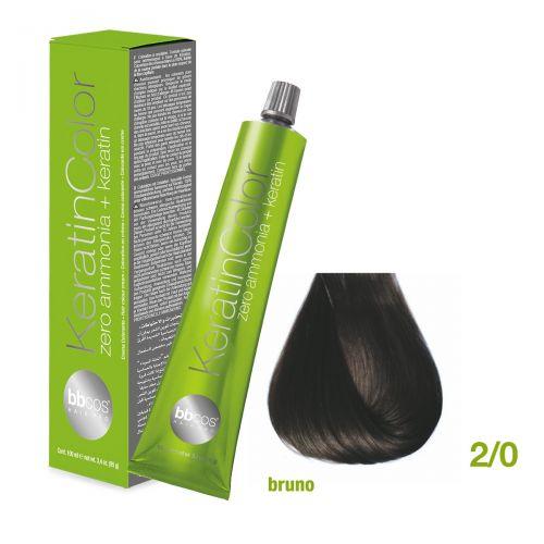 Vopsea de păr Keratin COLOR (2/0- Bruno)