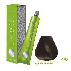 Vopsea de păr Keratin COLOR (4/0- Castano Naturale)
