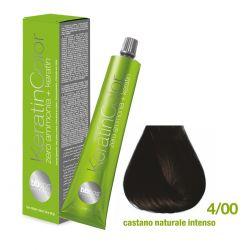Vopsea de păr Keratin COLOR (4/00- Castano Naturale Intenso)