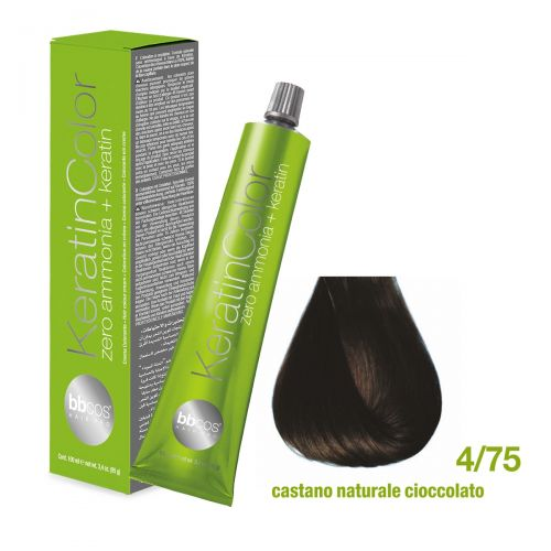 BBCOS - Vopsea de păr Keratin COLOR (4/75 - Castano Naturale Cioccolato)