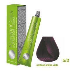 Vopsea de păr Keratin COLOR (5/2- Castano Chiaro Viola)