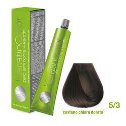 Vopsea de păr Keratin COLOR (5/3- Castano Chiaro Dorato)