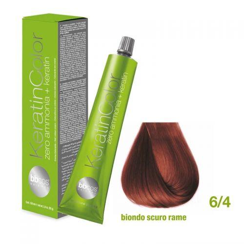 Vopsea de păr Keratin COLOR (6/4- Biondo Scuro Rame)