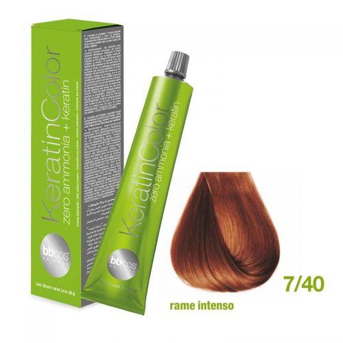 Vopsea de păr Keratin COLOR (7/40- Rame Intenso)