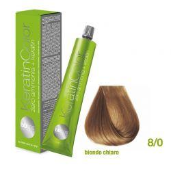 Vopsea de păr Keratin COLOR (8/0- Biondo Chiaro)