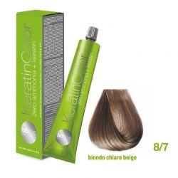 Vopsea de păr Keratin COLOR (8/7- Biondo Chiaro Beige)