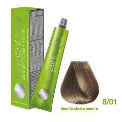 Vopsea de păr Keratin COLOR (8/01- Biondo Chiaro Cenere)