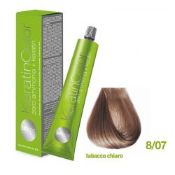 Vopsea de păr Keratin COLOR (8/07- Tabacco Chiaro)