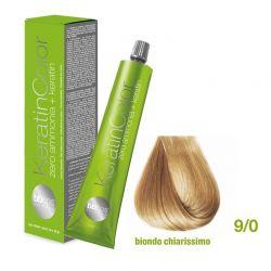 Vopsea de păr Keratin COLOR (9/0- Biondo Chiarissimo)