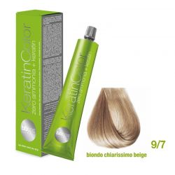 Vopsea de păr Keratin COLOR (9/7- Biondo Chiarissimo Beige)