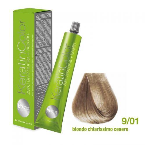 Vopsea de păr Keratin COLOR (9/01- Biondo Chiarissimo Cenere)