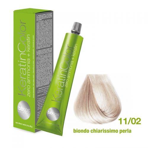 Vopsea de păr Keratin COLOR (11/02- Biondo Chiarissimo Perla)