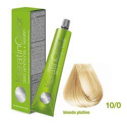 Vopsea de păr Keratin COLOR (10/0- Biondo Platino)