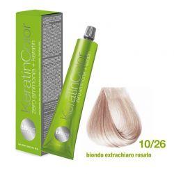 Vopsea de păr Keratin COLOR (10/26 Biondo Extrachiaro Rosato)