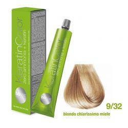 Vopsea de păr Keratin COLOR (9/32 Biondo Chiarissimo Miele)