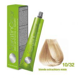 Vopsea de păr Keratin COLOR (10/32 Biondo Extrachiaro Miele)