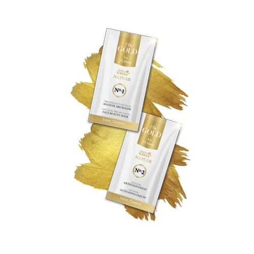 Golden Green Nature 24K Gold - Masca alginata 10gr + Ser activ 30 ml