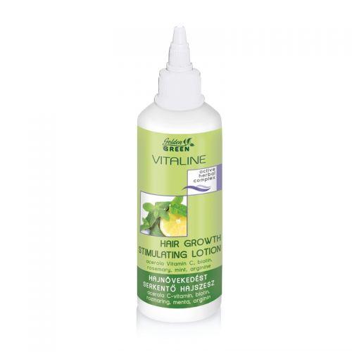Golden Green Vitaline - Spirt Capilar Regenerant- cu extract de vitamina C, biotina, rozmarin, menta (125ml)