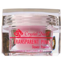 Crystal Nails - Praf Acrylic Slower Powder - Transparent Pink (17g)