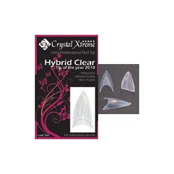 Crystal Nails - Tip Box Hybrid Clear (100buc/set)