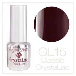 Crystal Nails - CrystaLac GL15 - Dark Aubergine 4ml
