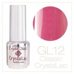 Crystal Nails - CrystaLac  GL12 - Pink Rose 4ml
