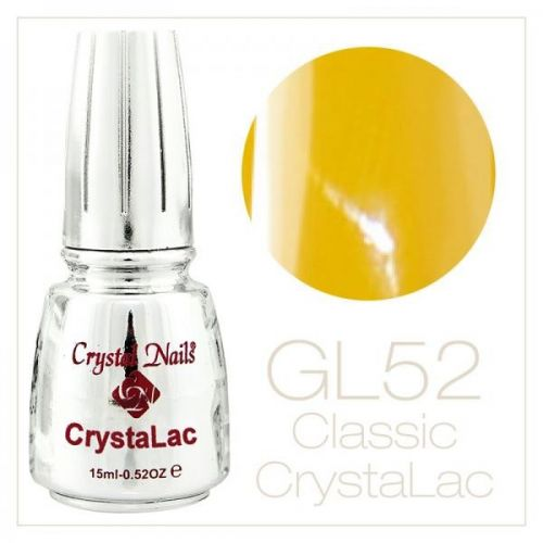 Crystal Nails - CrystaLac  GL52 - Honey Yellow (15ml)