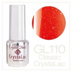 Crystal Nails - CrystaLac  GL110 - Bright Orange 4ml