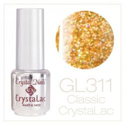 Crystal Nails - CrystaLac - GL311 Holo Gold (4ml)