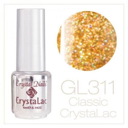 Crystal Nails - CrystaLac GL311 - Holo Gold 4ml