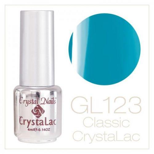 Crystal Nails - CrystaLac Neon GL123 - Albastru azur (4ml)