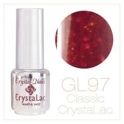 Crystal Nails - CrystaLac GL97 - Shiny Bordeaux 4ml