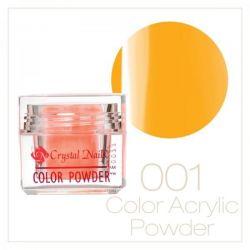 Crystal Nails - Praf acrylic colorat - 01 - galben - 7g