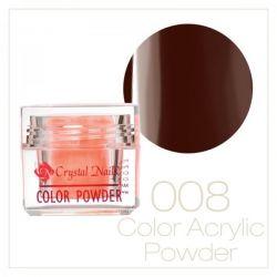 Crystal Nails - Praf acrylic colorat - 08 - Maro  7g