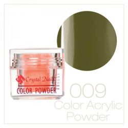 Crystal Nails - Praf acrylic colorat - 09 - Verde  7g