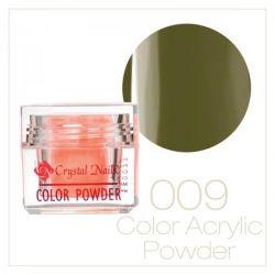 Crystal Nails - Praf acrylic colorat - 09 - Verde  7g