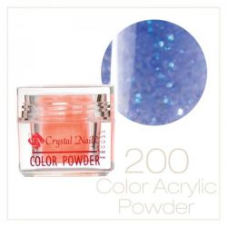 CRYSTAL NAILS - Praf Acrilic Colorat FLY-BRILL - Nr.200 (7g)