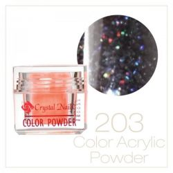 CRYSTAL NAILS - Praf Acrilic Colorat FLY-BRILL - Nr.203 (7g)