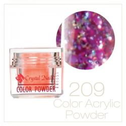 CRYSTAL NAILS - Praf Acrilic Colorat FLY-BRILL - Nr.209 (7g)