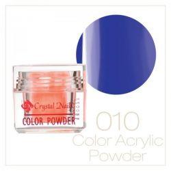 Crystal Nails - Praf acrylic colorat - 10 - Albastru  7g