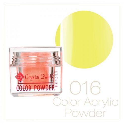 CRYSTAL NAILS - Praf acrylic colorat - 16 - galben neon - 7g