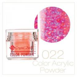 Crystal Nails - Praf acrylic colorat - 22 - Violet deschis cu sclipici  7g