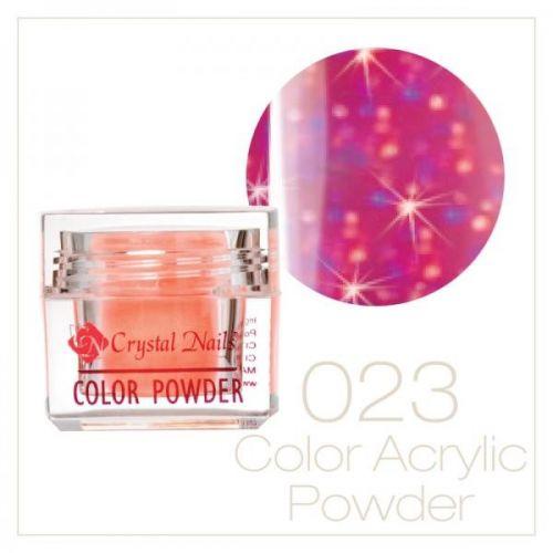 Crystal Nails - Praf acrylic colorat - 23 - Roz deschis cu sclipici  7g