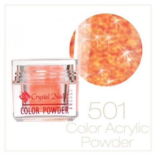 Crystal Nails - Praf acrylic colorat - 501 - Roz brilliant  7g