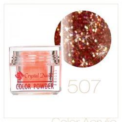Crystal Nails - Praf acrylic colorat - 507 - Caramiziu brilliant  7g