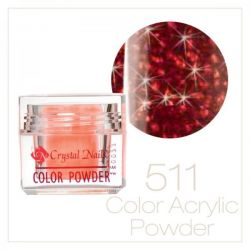 Crystal Nails - Praf acrylic colorat - 511 - Rosu brilliant  7g