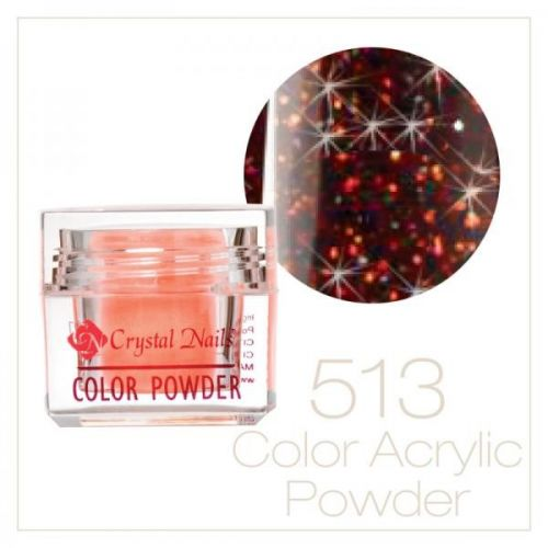 Crystal Nails - Praf acrylic colorat - 513 -  Bronz-auriu brilliant  7g