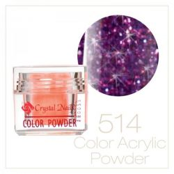 Crystal Nails - Praf acrylic colorat - 514 -  Violet-malin brilliant  7g