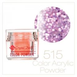 Crystal Nails - Praf acrylic colorat - 515 - Mov-lavanda brilliant  7g